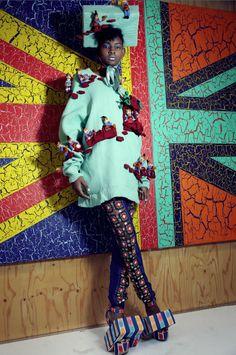 FM London: Shaneke Guyher in Harper's Bazaar China