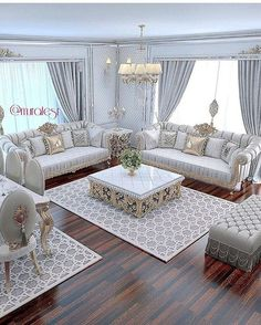 The Simple Romantic Living Room Trap 138 Living Room Sofa Design, Living Room Decor Cozy, Home Living Room, Interior Design Living Room, Living Room Designs, Romantic Living Room, Elegant Living Room, Sofa Set, Luxury Living