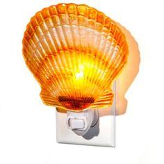 Handpainted Scallop Night Light   BedBathandBeyond.com