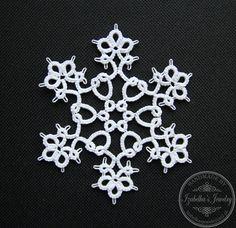 Hand tatted Christmas Snowflake XIX by IzabelkasJewelry on Etsy