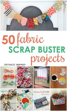 Loads of ideas! Fabric Scrap Projects and crafts