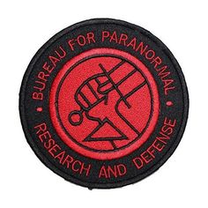 Hellboy Bureau for Paranormal Research & Defense Badge Embroidered Patch Sew-on or Iron-on Cool Patches, Pin And Patches, Sew On Patches, Punk Patches, Iron On Embroidery, Embroidery Patches, Embroidered Patch, Iron On Badges, Pin Badges