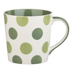 Coffee mugs and polka dots - my two favorite things