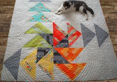 Pinwheel Spinwheel by SewPixie for the MQG Michael Miller Challenge 2014  Large flying geese quilt