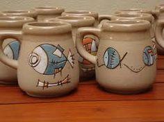 Resultado de imagen para engobes ceramicos Slab Pottery, Pottery Mugs, Ceramic Pottery, Plate Design, Cup Design, Ceramic Cups, Ceramic Art, Cerámica Ideas, Clay Fish