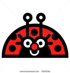 Cartoon Ladybug   Cute, Fun Cartoon Ladybug. Stock Vector 72675292 : Shutterstock