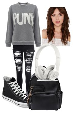 Untitled #117 by h-akther on Polyvore featuring Bella Freud, Glamorous, Converse, Dsquared2 and Berry