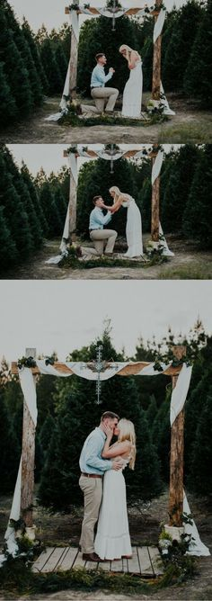 He asked her to marry him under an altar surrounded by trees, and it's the most beautiful proposal!