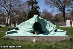 For out-and-out creepiness, you can't beat this eerie Grim Reaper in Brooklyn's Green-wood cemetery