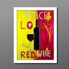 Red Wine, Peace, Home Decor, Kunst, Decoration Home, Room Decor, Home Interior Design, Sobriety, Home Decoration