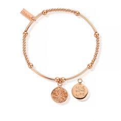 ChloBo Cute Mini Rose Gold Live Love Life Bracelet