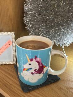 """""""I Don't Believe In Humans"""" Pastel Unicorn Mug"""