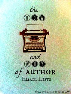 The How & Why of Author Email Lists
