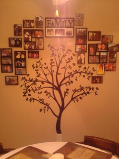 Family tree wall - with extended and immediate fam and close friends