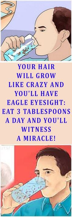 Eat 3 Tablespoons A Day And You'll Witness A Miracle! Your Hair Will Grow Like Crazy And Your Eyesight Will Improve Drastically! – Slim And Fit Health And Beauty, Health And Wellness, Health Care, Health Fitness, Fitness Tips, Holistic Wellness, Onbre Hair, Grow Hair, Bald Hair