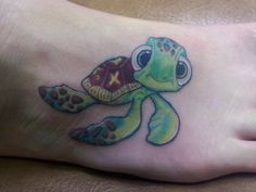 Squirt from Finding Nemo! Love this