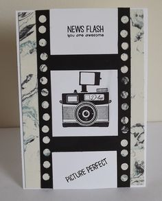 Pun Inteneded Cool Cards, Diy Cards, Scrapbooking Layouts, Scrapbook Cards, Camera Cards, 50th Birthday Cards, Hand Stamped Cards, Stampin Up Catalog, Fathers Day Cards