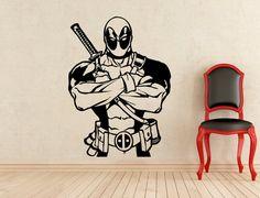 Deadpool adesivi parete vinile adesivi casa affreschi degli interni arte decorazione (Design migliorato) (301z)