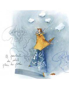 """Carte d'Art """"Du soleil plein les poches"""" Anne Sophie, Art Carte, Illustration Noel, Pretty Drawings, Weird Art, Whimsical Art, Art Pictures, Images Photos, Figure Painting"""