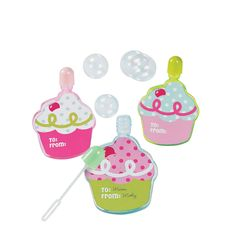 Birthday Bakery Cupcake Bubble Bottles - OrientalTrading.com
