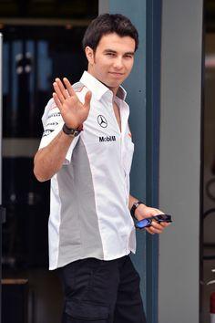 F-1 Sergio Perez in the paddock