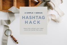 The Fastest Way to Add Hashtags to a Post |  A Blogger's Biggest Instagram Secret for Social Media Marketing http://www.nataliefranke.com/2016/05/fastest-way-add-hashtags-post/