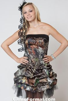 black camo dress love this to be my prom dress