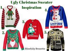 5 Ugly Christmas Sweaters You'll Love: http://blissfullybrunette.com/?p=5438