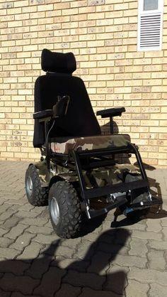 Camo Predator 4x4 Power Wheelchair by Radical Mobility.