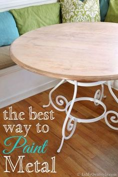 Metal Furniture makeover.  Step y step tutorial on on how to paint metal successfully so it won't chip off.  | In My Own Style