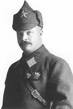 Mikhail Vasilevich Frunze (1885-1925) was a top military leader during the Russian Civil War after the end of WW1, and, later, the most influential military theoretician of the USSR. In Feb 1922, he was elected a member of the Politburo of the Communist Party. In 1924, he was appointed chief of Staff of the Red Army and Commandant of the Military Academy, which was named after him when he died in 1925 following an unsuccessful operation for stomach ulcers. The academy existed until 1998.