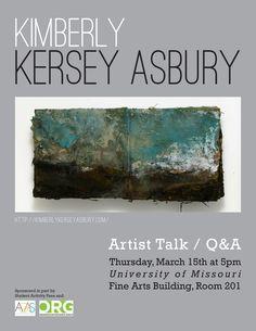 Artist Talk Poster, Landscape Books & Recent Work, University of Missouri-Columbia, 2012.