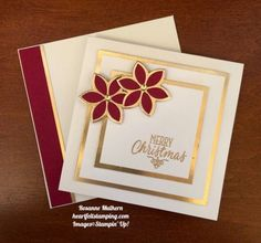 Stampin Up Quilt Builder Christmas Card - Rosanne Mulhern https://heartfeltstamping.com/2017/11/simply-elegant-christmas/