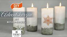 DIY: stylische Adventskerzen mit Betonsockel [How to] Deko Kitchen - YouTube