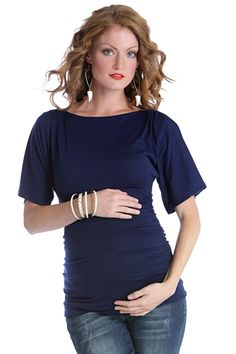 Taylor Short Sleeved Boat Neck Maternity Top by Lilac | Maternity Clothes  Available at Due Maternity www.duematernity.com