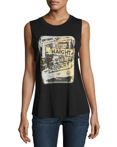 Haight+Ashbury+Muscle+Tank+by+Haute+Hippie+at+Neiman+Marcus+Last+Call.