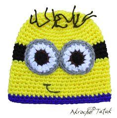 Tuque minion  Minion crochet hat