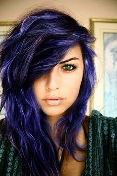 wanna get purple hair like this