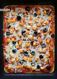 Pizza socca con harina de garbanzos. Receta fácil vegetariana y sin gluten Lunch Recipes, Breakfast Recipes, Dinner Recipes, Cooking Recipes, Healthy Recipes, Healthy Meals, Healthy Food, Sin Gluten, Gluten Free