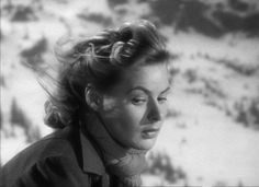 "Ingrid Bergman in Hitchcock's ""Spellbound."""