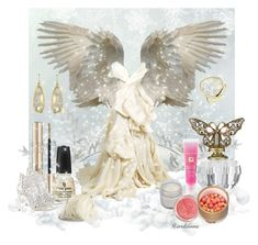 """Angel"" by fiordiluna ❤ liked on Polyvore featuring Clips, Loriblu, Maison Rabih Kayrouz, China Glaze, Ralph Lauren, Lancôme, Monsoon, Irene Neuwirth and Monica Vinader"