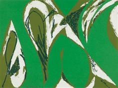 Artwork by Lee Krasner, Free Space, Made of Screenprint in colors with collage, on wove paper