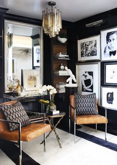Photography Willie Cole Glam Living Room Design