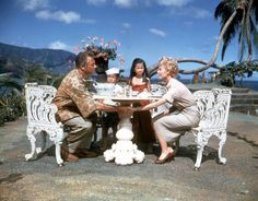 "Still of Rossano Brazzi and Mitzi Gaynor in ""South Pacific"" 1958."