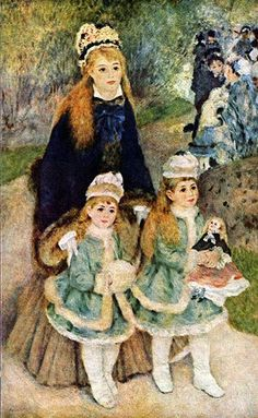 Madame Georges Charpentier and Her Children at park oil painting by Pierre Auguste Renoir, The highest quality oil painting reproductions and great customer service! Pierre Auguste Renoir, Monet, August Renoir, Renoir Paintings, Impressionist Artists, Oil Painting Reproductions, French Art, Beautiful Paintings, Oeuvre D'art