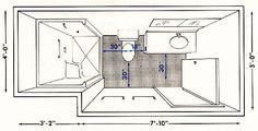 Bathroom plans, bathroom designs