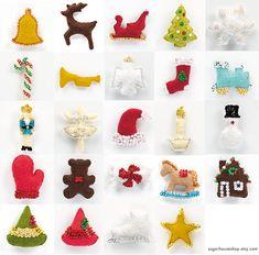 Christmas Wreath Advent Calendar PDF Sewing by SugarHouseShop