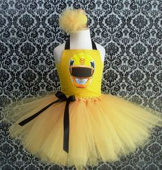 Power Rangers Yellow Megaforce Tutu Dress