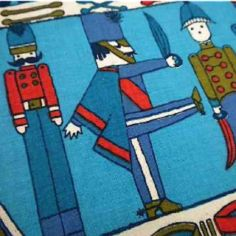 Vintage toy soldier fabric.