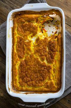 Gluten Free Carrot Cornmeal Spoonbread